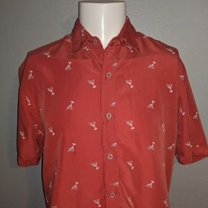 Large Martini Casual Button Down Great Condition